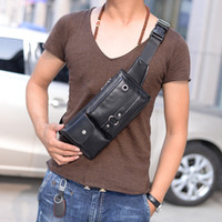 Wholesale Fashion Men Bags PU Leather Sling Waist Chest Bag School Korean Inclined Shoulder Bag leisure multi function Wallet Mini Backpacks for Man