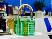 Wholesale Colorful Transparent Visible small big Cutaway Padlock Lock Pick For Locksmith Practice Training