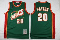 Wholesale Cheap Shawn Kemp Stitched Green Sonics Jersey Throwback Best Quality Jersey Accept Mix Order