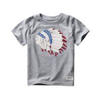 Wholesale 2016 New Kids Clothes Cotton Short Sleeved Boys T Shirts Cartoon T Shirt Patterm Kids Boys Clothing