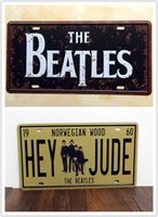 Wholesale 2PCS THE BEATLES Hey JUDE Metal Tin Sign License Plate Man Cave Home Bar Wall Decor Plaque Art Poster