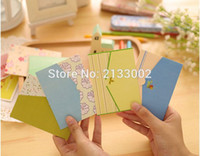 Wholesale Floral Folding Greeting Card Birthday Christmas Card Envelope Writing Paper Stationery