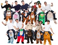 bears mascots - NOVELTY TEDDY BEAR MASCOT FANCY DRESS OUTFIT ADULT CARRY ME PIGGY BACK RIDE ON SHOULDER Style