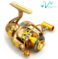 additive color - High quality spinning fishing reel fishing wheel metal body Golden Color BB series series sea fishing
