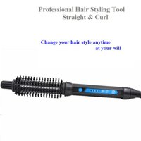 Wholesale HOT Professional curl and straight in Hair Styling comb temperature control mm mm mm mm for option
