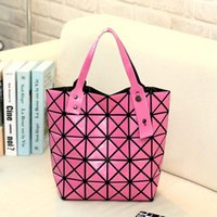 baguette band - 2016 New Women Fashion BAO BAO Geometry Sequins Laser Plain Handbag Band Designer Folding Tote Women Messenger Shoulder Bags