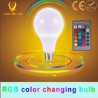 led rgb remote bulb 5w - 1Pcs E27 LED RGB Bulb lamp Home Lighting Bulb COB W W W Dimmable Holiday RGB lighting IR Remote Control colors V V