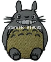 anime patches - MY NEIGHBOR TOTORO AppliqueJapanese ANIME TV movie fancy Embroidered sew on iron on patch applique dropship