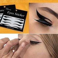Wholesale New Pair Black Eyes Sticker Cat Style Eyeliner Sexy Temporary Double Eyeshadow Eyelid Tape Smoky Tattoo Eye Makeup Tools