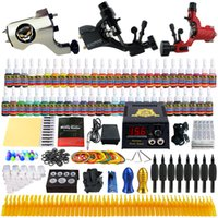 tattoo gun machine - Solong Tattoo Complete Tattoo Kit Pro Rotary Tattoo Machine Guns Inks Power Supply Foot Pedal Needles Grips Tips TK355