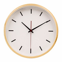 Wholesale Hippih Inches Quiet Sweep Wall Clock Vintage Wooden Scale Saat Clock Home Decoration Horloge Murale Round Relogio De Parede