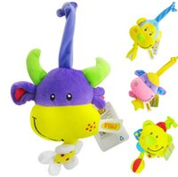 Wholesale New pc Baby Musical Toy Super Soft Plush Baby Rattle Cute Animal Doll Early Educational