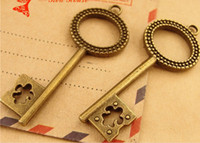 antique decorative items - A3786 MM Antique bronze Retro exquisite key pendant DIY ZAKKA jewelry accessories decorative metal key charms for sale gift item