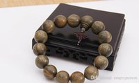 Wholesale class A Tibet mm Real Green Sandalwood Malas Bracelet Prayer Beads