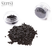 Wholesale Neitsi bottle Nano Ring Beads For Nano Ring Micro Loop Links Fusion Keratin Human Hair Extensions Brown Blonde Colors