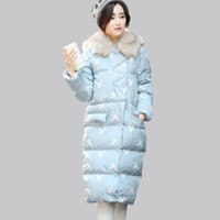 Wholesale Women parkas cotton Wadded jacket female medium long slim large fur collar with a hood winter new arrival cotton padded jacket