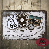 american hot rod - US Route Compass Metal Sign Wall Decor Garage American Hot Rod D
