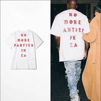 Wholesale Hot Sale Summer Brand New Style Kanye West life of Pablo Losangeles LA yeezus season Hip Hop Tops Short Sleeve T Shirts S XXXL