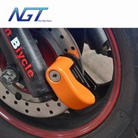 Wholesale New Fashion mm Security Motorcycle Bike Wheel Disc Brake Lock Safety Alarm Lock with Battery And key