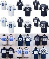 wholesale football jersey - 2016 Elite Mens Cowboys Jerseys Dez Bryant Tony Romo Jason Witten Ezekiel Elliott Jerseys Free Drop Shipping White Blue