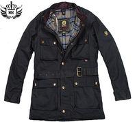 Precio de Chaquetas de los hombres de cera-estilo de la manera hombres de la chaqueta del otoño 2016 resorte Marca delgadas de color sólido businese casuales cinturón exterior chaquetas enceradas M-3XL