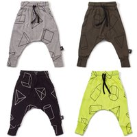 Wholesale 2016 New Fashion Child baby Pants Nununu Geometric patterns kid Harem Pants For Girls Boy Trousers Clothes cotton