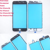 attached lens - For iPhone Front Outer Glass Lens Pre attached Frame Assembly for iPhone S plus Repair Parts DHL