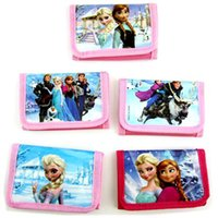 Wholesale Elsa Anna Kids Purse Frozen Cartoon Wallet Coin Purse Mixed Design Change Bags Baby Girls Boys Birthday Christmas Gift