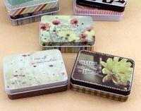Wholesale 2016 New Arrival Mulity Pattern Rectangle Iron Boxes Korea Vintage Candy Pill Lovely Box Cartoon Jewerly Fashion Storage Tin Box