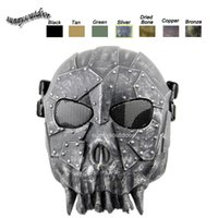 Wholesale Desert Corps Mask Outdoor Sports Face Protection Gear Airsoft Shooting Full Face Tactical Airsoft Skull Mask