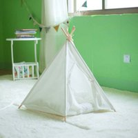 Wholesale Pure white pet dog cat play tent play house with cotton fabric with cushion