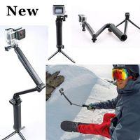 Wholesale Selfstick Go pro Accessories way Grip Arm Tripod Monopod way Mount For Gopro Hero xiaoyi sj4000 sports camera