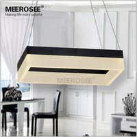 abs meeting - Rectangle Black Gold LED Chandelier Light Fixture LED Modern Lamp for Dining Room Meeting Room