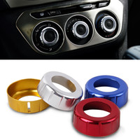 audio knob - Car Styling Aluminum Alloy Interior Air Conditional Audio Stereo Radio Switch Control Knobs Trim Ring For C Elysee Peugeot