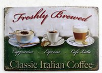 american brewing - FRESHLY BREWED Creative tin posters cm Wall Stickers decorative sheet metal painting decorative crafts and gifts
