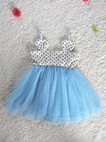 baby singlet pattern - Girls Mickey Minnie Pattern dress Babies Summer Tulle Lace Dress Kids Girl Polka Dots Singlet Bubble Sleeveless Dress colors choose