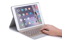 abs connections - Wireless Bluetooth Keyboard cover case automatic connection bluetooth keyboard with colorful LED light For Ipad Pro9 inch Ipad air