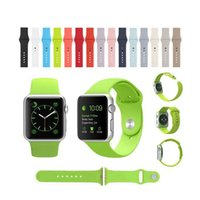 Wholesale Candy Silicon Rubber Original Integrated Connector Casual Sports Iwatch Band Strap Watch Bracelet for Apple Watch