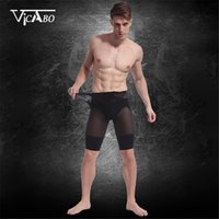 Wholesale High Waist Trainer Bodysuit Slimming Men Body Shaper Sexy Underwear Compression Contour Strong Shaping Shorts Fit Boxer Pants