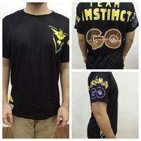 t-shirts no logo - Men S Poke Go Team Valor Mystic Instinct Logo Summer T Shirts Print Polyester Tee Tops Poke Pullover Short Sleeve Casual Brand Clothing