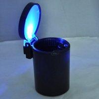 Wholesale KSOL New Style Car Auto LED Light Smokeless Ashtray Cigarette Holder