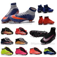 Wholesale New women high ankle Football Boots AG FG Superfly IV V Mercurial CR7 Soccer Shoes womens MercurialX TF turf Soccer Cleats ronaldo