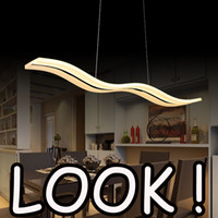 Wholesale Hot LED Acylic Pendant Light wavy S type Modern for living room Wave Acrylic pendant lamp dinning room Pendant Lighting AC85 V