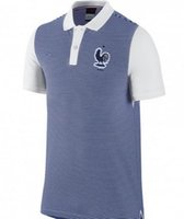 Wholesale new style Euro man France national soccer polo Polyester best quality logo is embroidery shirts shipping free