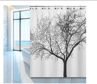 Wholesale Dozenegg Waterproof Shower Curtain With Tree Design cm X cm