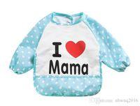 Wholesale 1 PC Baby Long Sleeve Waterproof Feeding Bib Apron Cute Cartoon Dribble Long Sleeve For Baby Feeding TRK0005