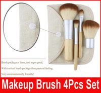 beautiful goats - Makeup Brushes Set Kit Beautiful Professional Bamboo Elaborate make Up brush Tools With button bag