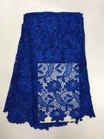 african clothing patterns - 5 Yards pc Royal blue water soluble guipure lace with flower pattern Excellent african cord lace fabric for clothing ZQW7