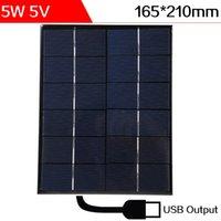 ELEGEEK 5W 5V 165 * 210 * 3mm Salida del USB de silicona monocristalina de células solares de resina epoxi Mini Panel Solar para la prueba de DIY y sistema educativo