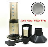 aeropress espresso maker - 2016 Hot Espresso Portable Coffee Maker Aeropress Coffee Press Maker With Metal Filter Freeshipping